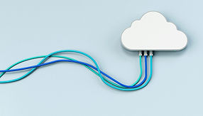 Cloud with network cables coming out of it toshow cluod networking