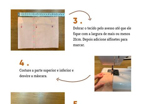 Como fazer máscara de tecido [tutorial]