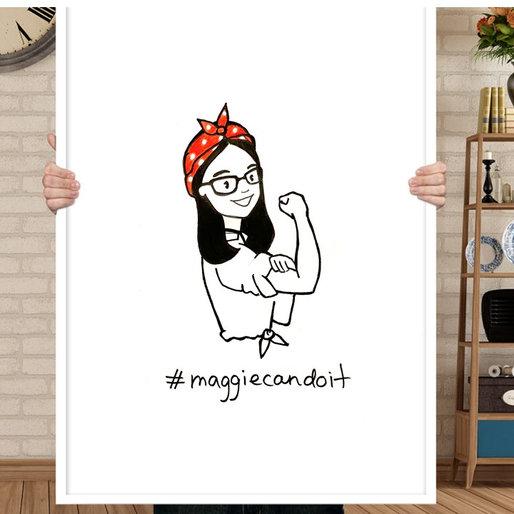 Illustration for Maggie Chi election campaign (Toronto, Canada)