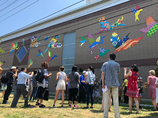 Chinese Cultural Centre of Greater Toronto mural with lead artist Rob Matejka and Mural Routes team (Toronto, Canada) 2018