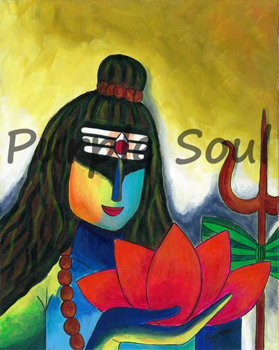Shiva with Lotus