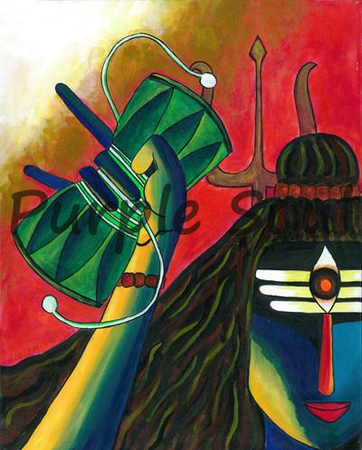 Shiva with Dumroo