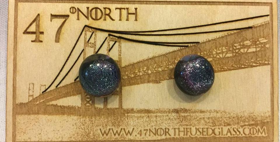 Glass Fused Stud Earrings