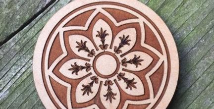 Wooden Mandala Coaster (Rose)