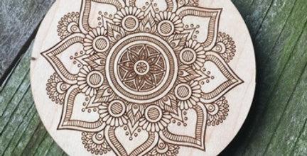 Wooden Mandala Coaster (Dream Catcher)
