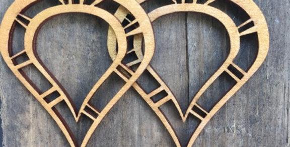 Abstract Wooden Teardrop Earrings