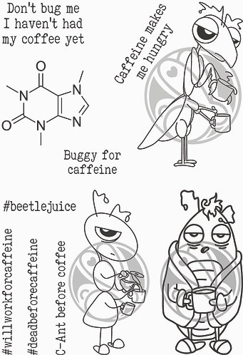Caffeinated - Buggy for Caffeine 4x6