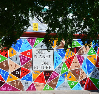 "Brighton Beach Primary Schools' mural ""One Planet One Future"""