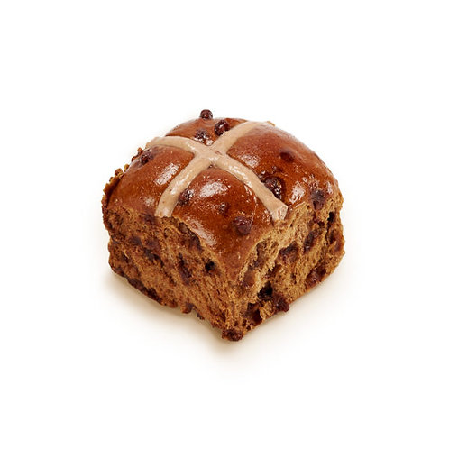 Mocha Hot Cross Bun
