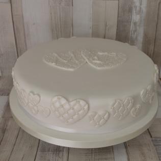 Romantic simple wedding cake