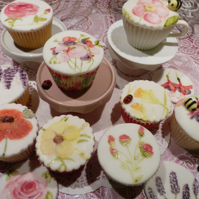Hand painted cupcakes