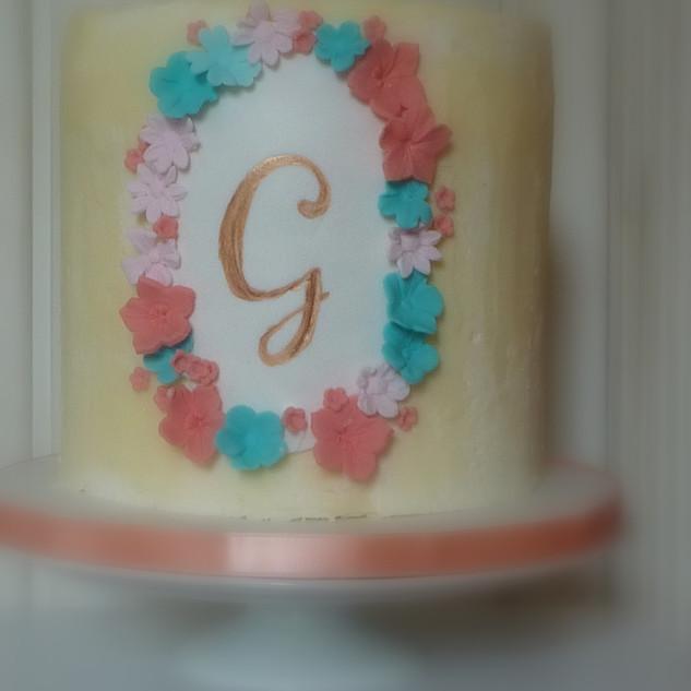 G chrisening cake