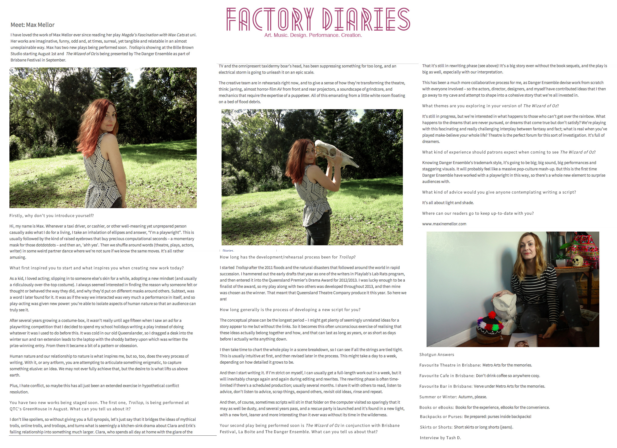 Factory Diaries Interview Blog