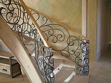 balustrada wewnętrzna kuta tradycyjnie