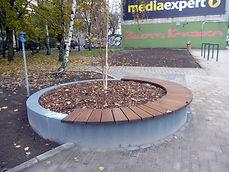 mała architektura , ławka w Poznaniu