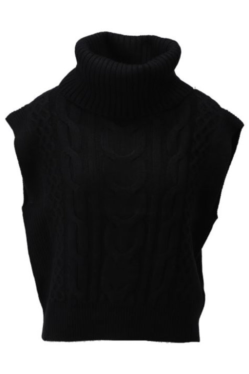 K-design T500 pullover met rolkraag black
