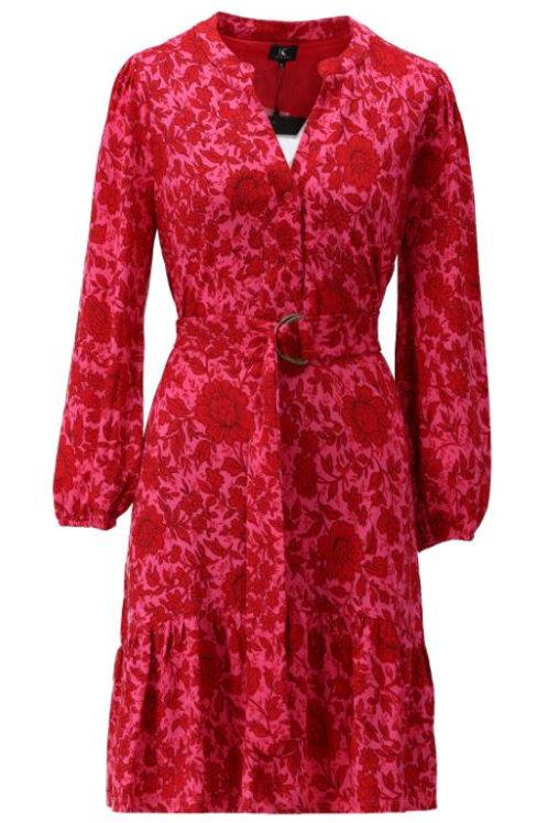 K-design T123 P296 kleedje met riem en print