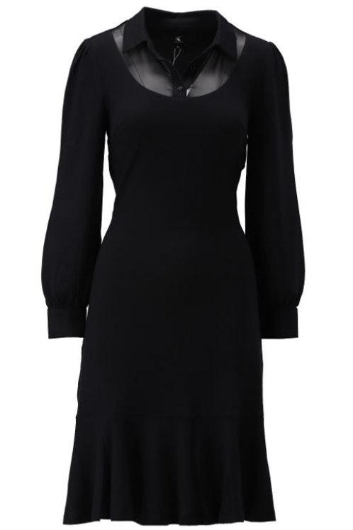 K-design T253 kleedje met licht transparante hals in black