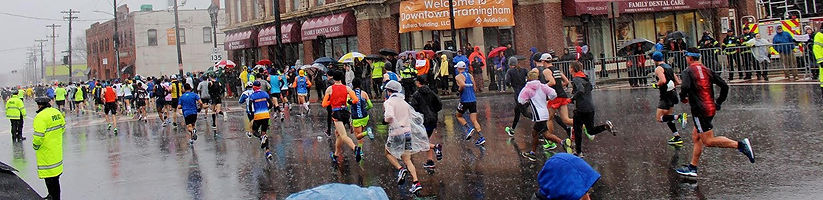 Boston Marathon 2018 in the rain