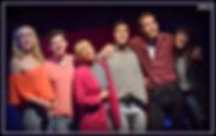 "Caleb Dehne, Thaddeus Kolwicz, Alexis Kelley, Alan Trinca, Landon Zwick, and Ana Marcu perform ""The Drama Never Ends"" from 90210! - The Musical"