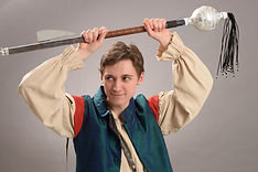 Press photo of Matthew I McCabe as Pirate McCabe in Oswego State Theatre's Space Pirates of Planet Penzance