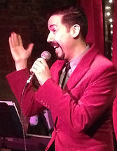 David Roman, Winner Aug 2014 performing at The Cabaret Showdown at The Kraine Theater