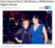 Erin Cross sings Nancy LaMott: Inspirations at Don't Tell Mama's NYC
