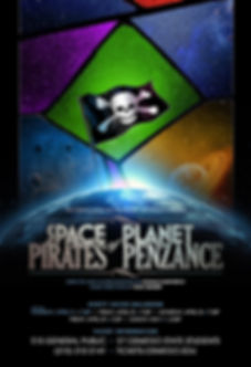 Official poster of Space Pirates of Planet Penzance at Oswego State Theatre directed by Donald Garverick