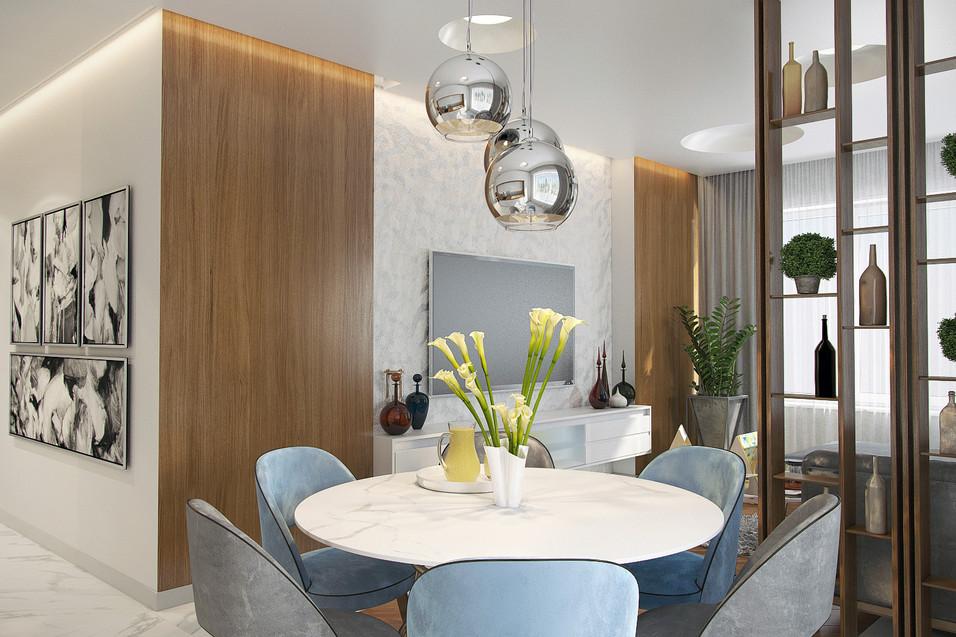 Квартира 115 м.кв. Clever Park (Кухня)