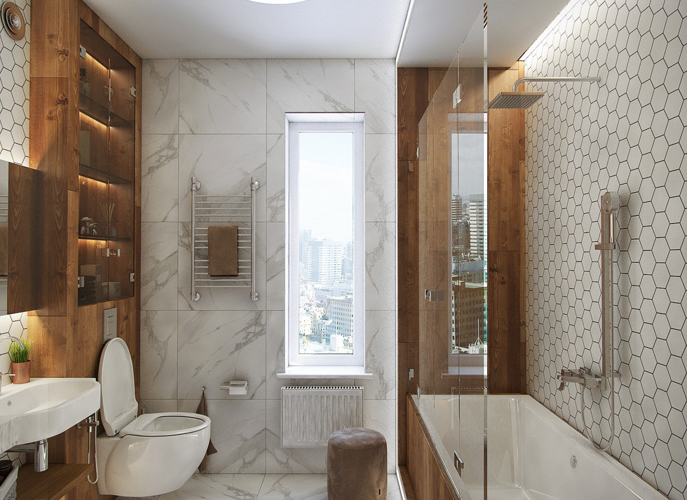 Квартира 115 м.кв. Clever Park (Ванная)
