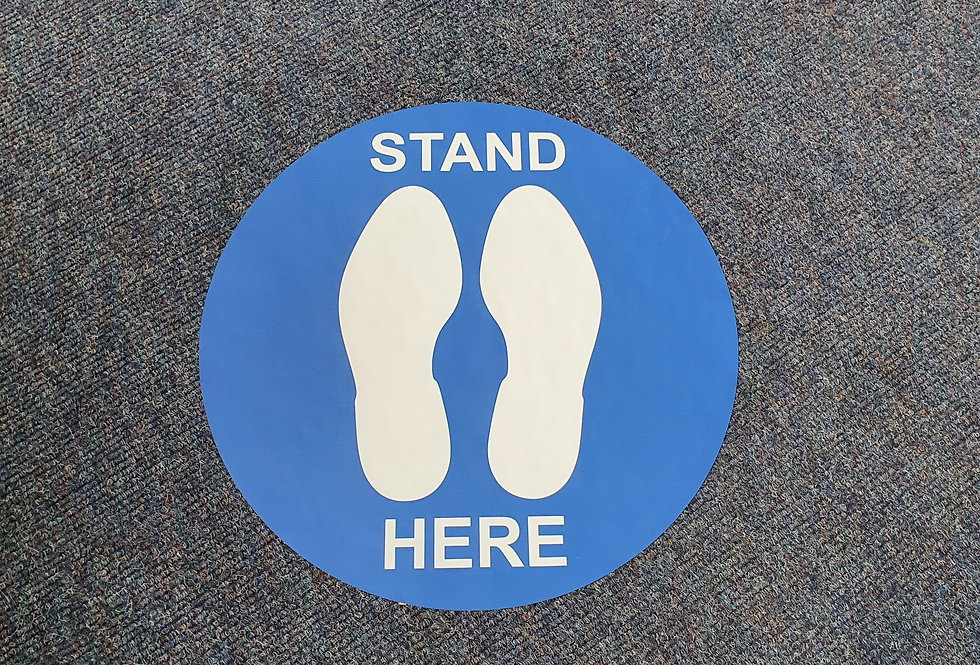 STAND HERE BLUE