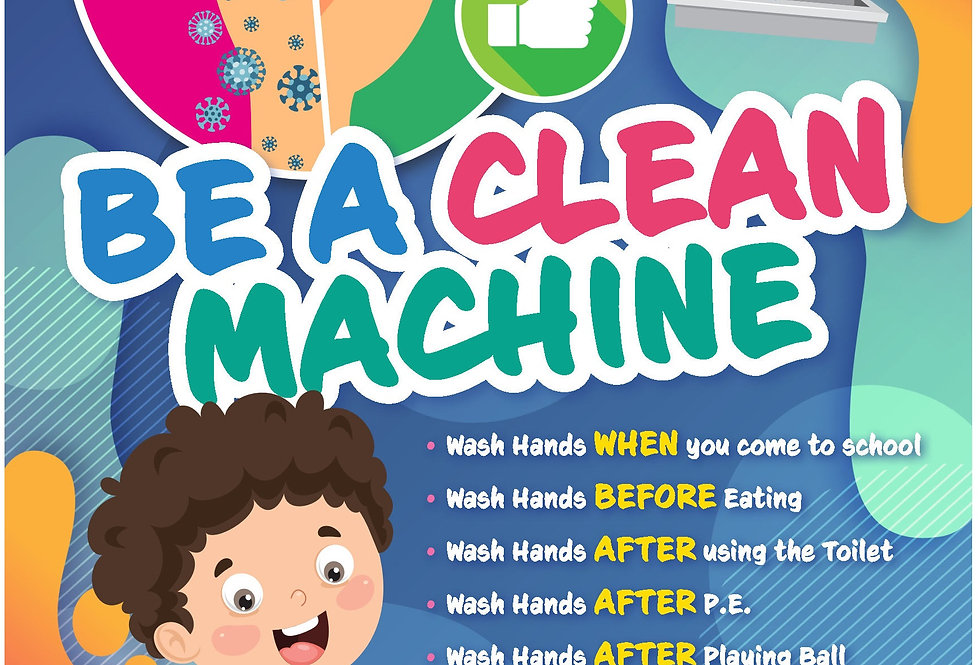 BE A CLEAN MACHINE A3 POSTER