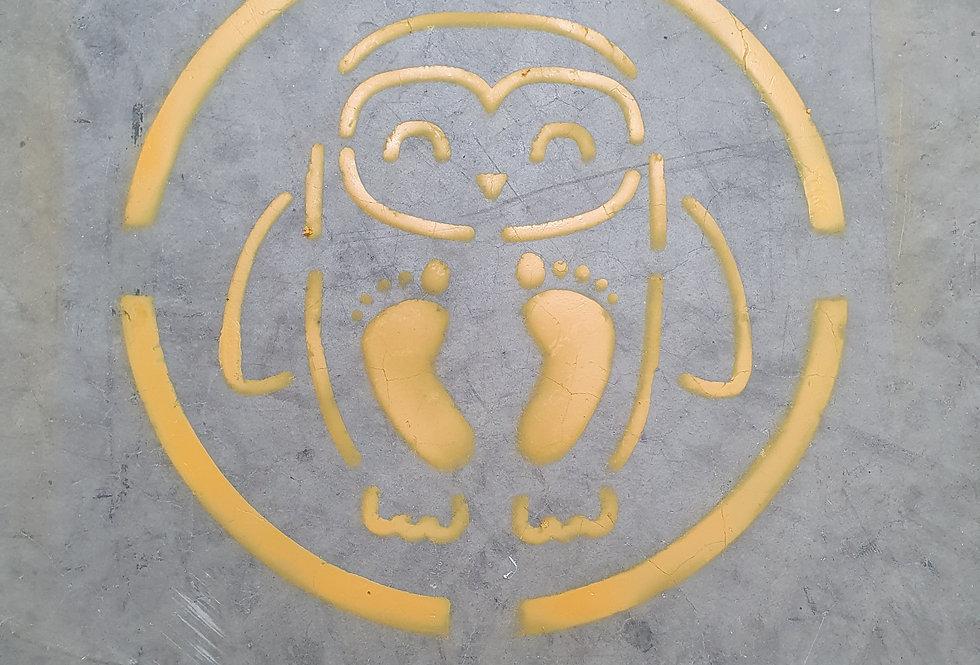 Owl feet stencil