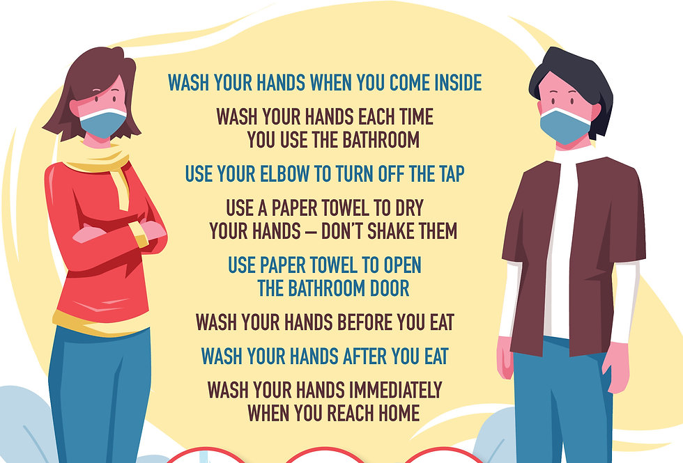 Be Kind, Wash Hands A3 Poster