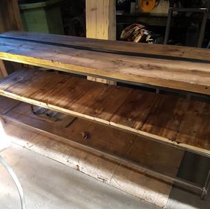 meuble tv plateau chene