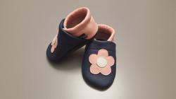 dunkelblau/rosa+Blume mittig ab 24,-