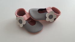 hellgrau/rosa + Blume ab 26,-
