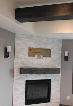 Fireplace with Quartz Stone