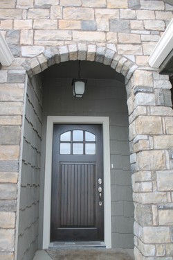 Stone Arched Entry