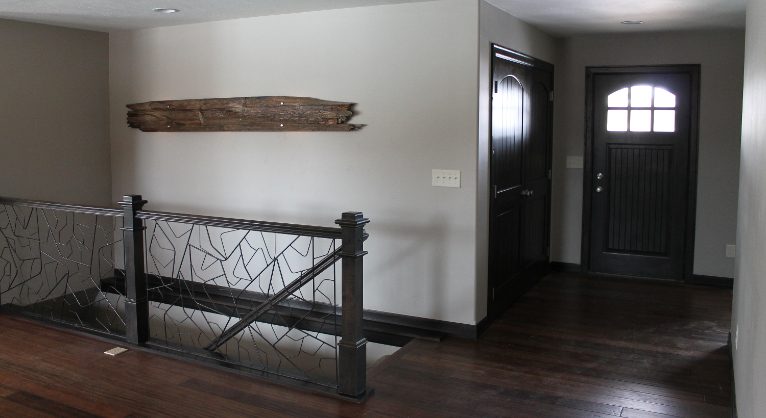 Iron Rail with Barnwood Wall Art