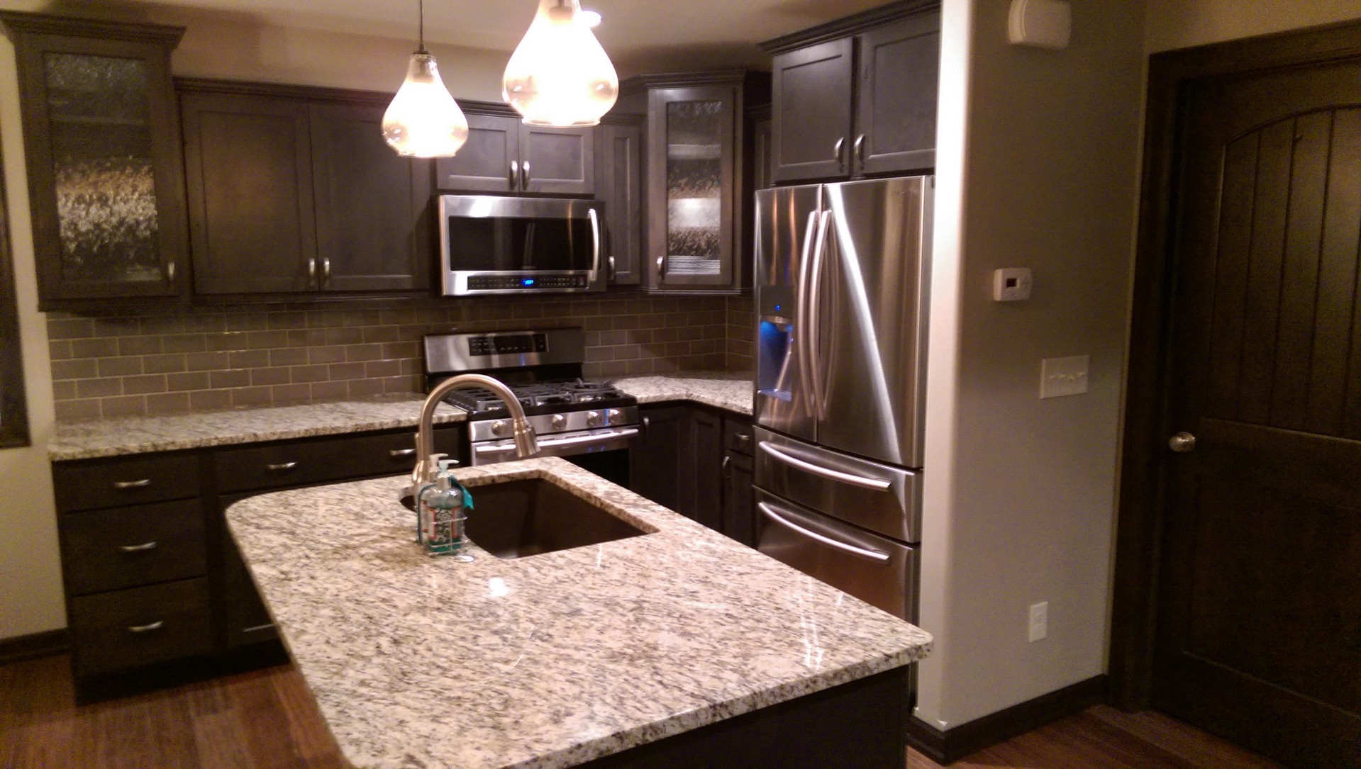 Kitchen Cabinetry Rainglass Accent