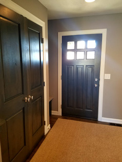 Stained Doors & Painted Trim