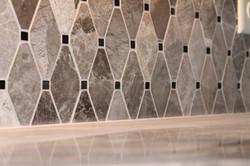 Diamond Tile Backsplash