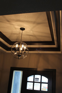 Tray Ceiling with Chandelier