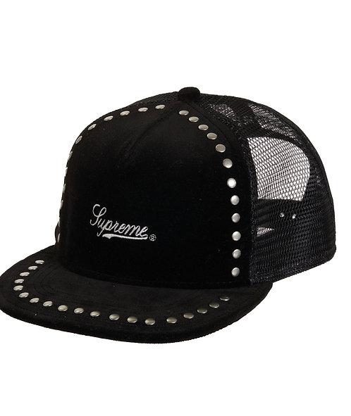 Supreme Studded Velvet Mesh Cap