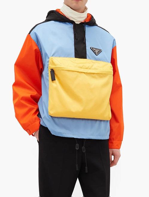 PRADA Colour-Block Nylon Hooded Jacket