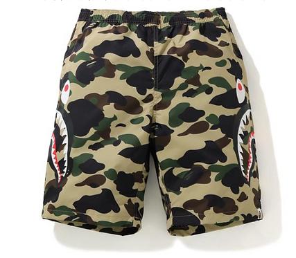 Bape 1st Camo Side Shark Beach Shorts