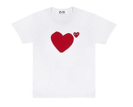 CDG PLAY RED BIG HEART TEE
