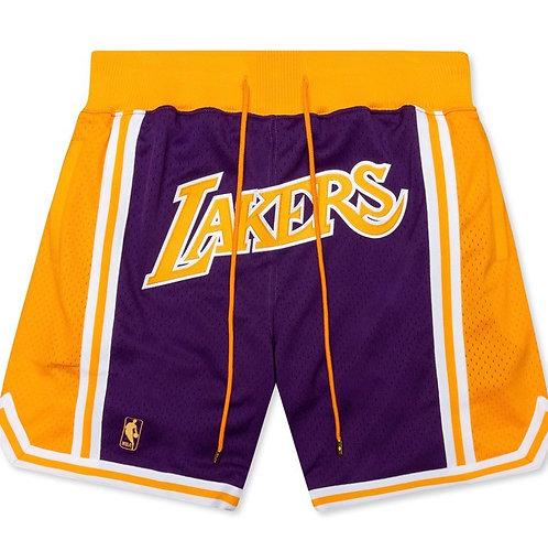 Just Don Los Angeles Lakers Shorts