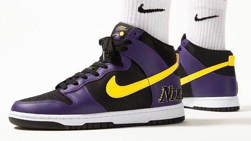 "Nike Dunk High PRM EMB ""Lakers"""